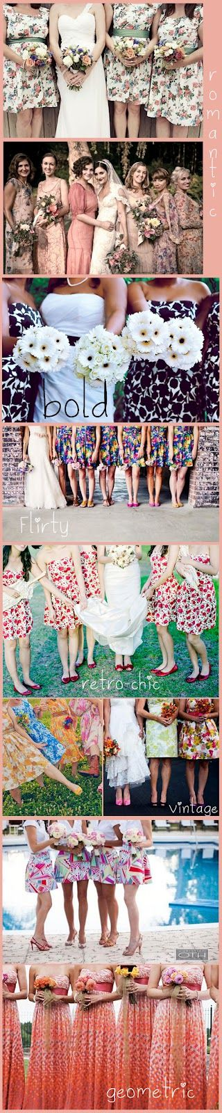 I'm grateful for this reminder of having patterned (or, just a classy kind of different) bridesmaid dresses. (Inspiring.)