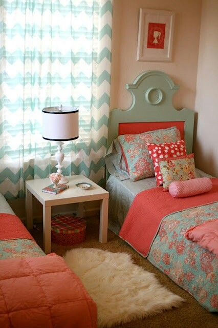 Girl bedroom  Adorable. @Monique Taylor, I think if you and I were sisters, this is the bedroom we would have shared.