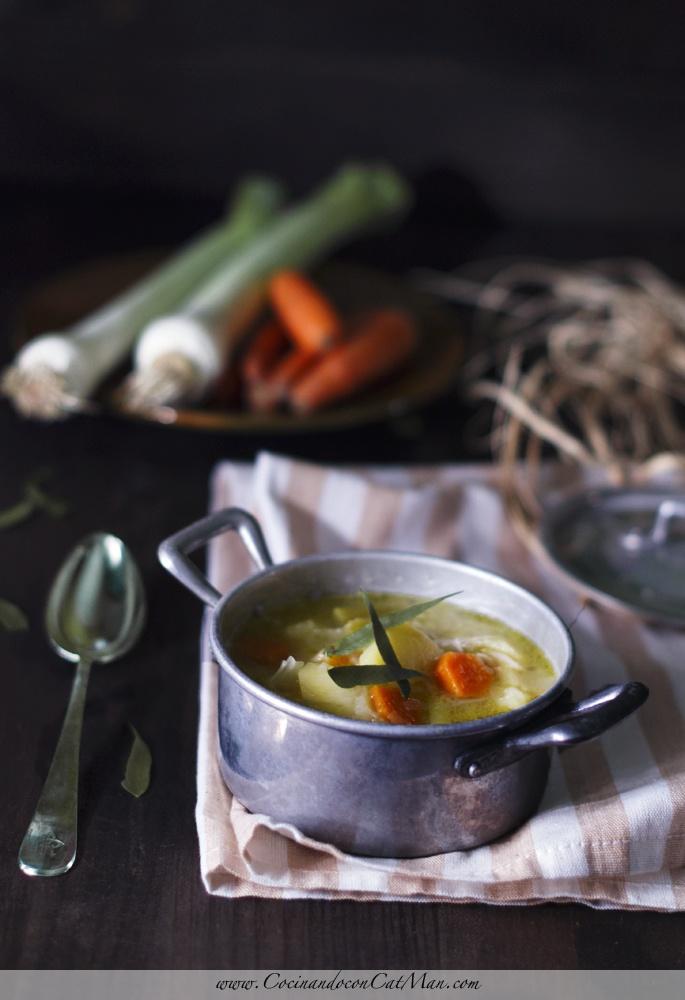 Cocinando Con CatMan: Basque Leekie soup - Porrusalda