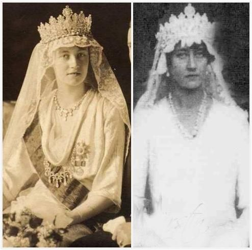 Grand Duchess Charlotte and her sister Hilda, respectively.