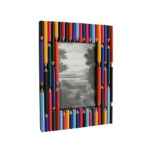 Recycled Colored Pencil Photo Frame...this would  be cute with a school photo