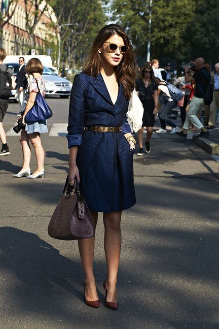 Street Chic in Milan / Elle
