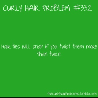 I think this is a thick hair problem. But either way... Yes