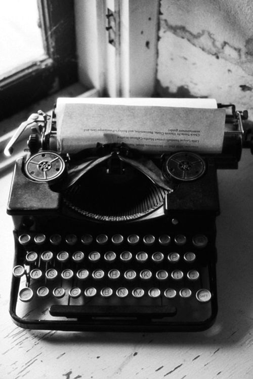 I can hear the tap clip, tap clip, tap clip of a typewriter.