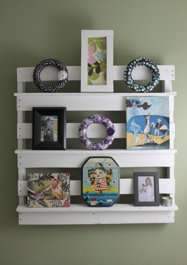 Utility Shelves Made From Old Pallets - DIY Woodworking Projects