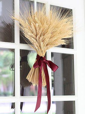 Fall Wheat Sheave Wreath