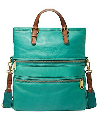 Fossil Handbag, Explorer Leather Tote - Fossil Handbags - Handbags & Accessories - Macy's