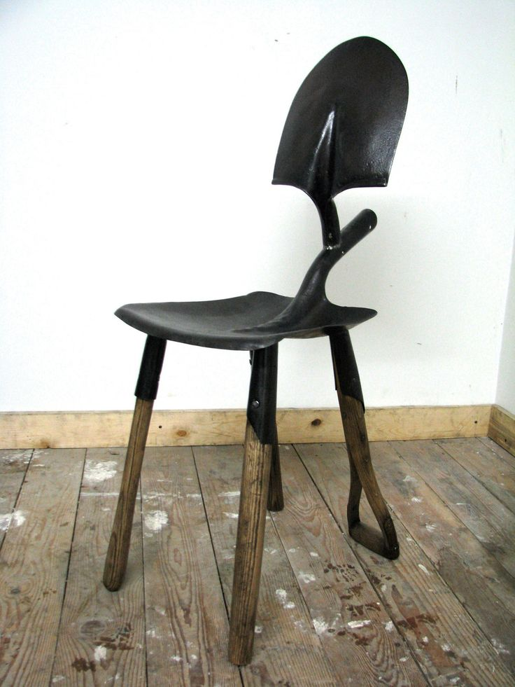 Items similar to Recycled Shovel Chair on Etsy  @Jenny Brackett- Gagnon, this just screams your name!!!