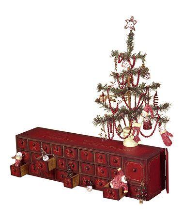 Take a look at this Red Box Advent Calendar by Primitives by Kathy on #zulily today!