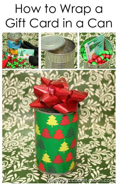How to Wrap a Gift Card in a Can
