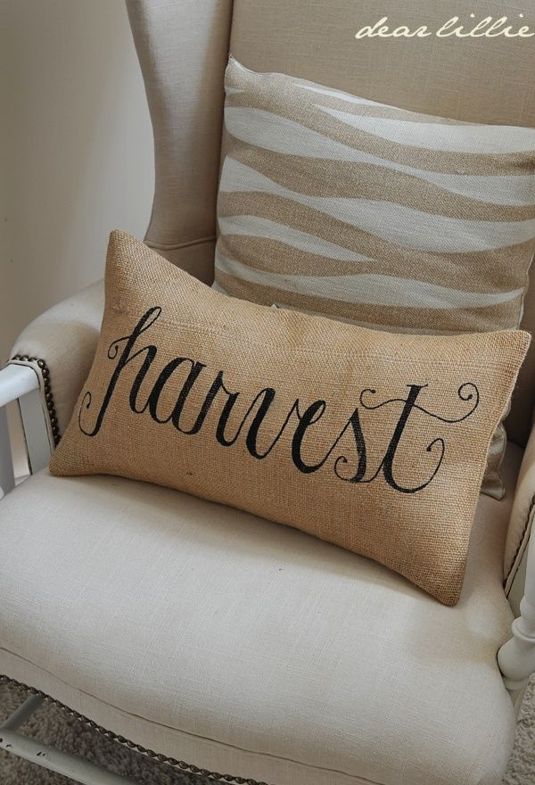 Harvest 12x20 Burlap Pillow Cover in Black