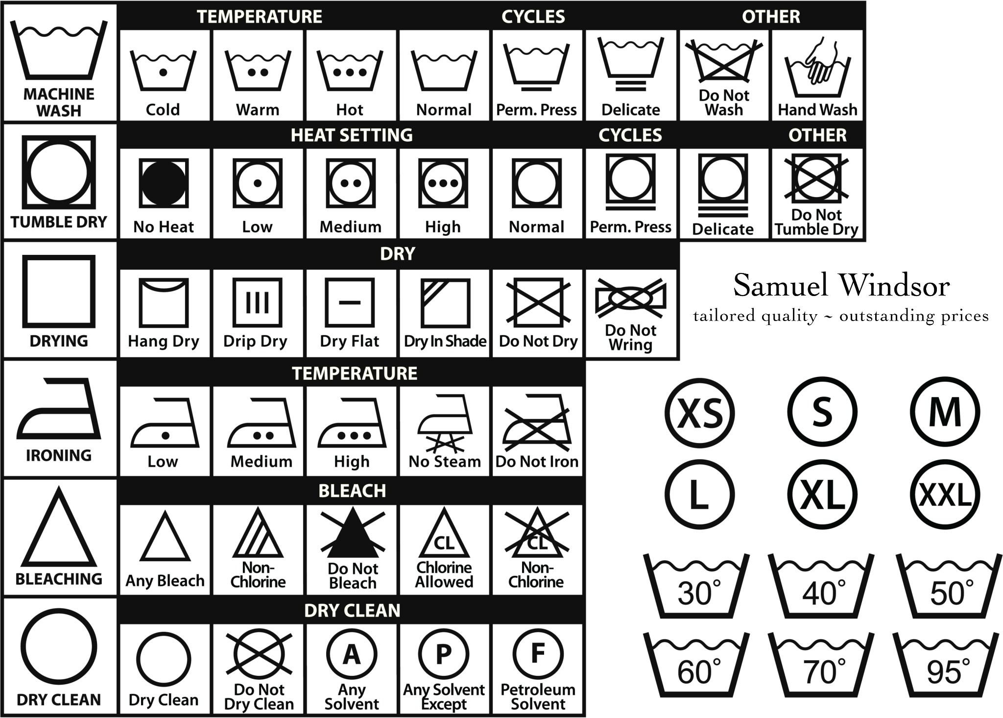 A Penny Saved Laundry Symbols
