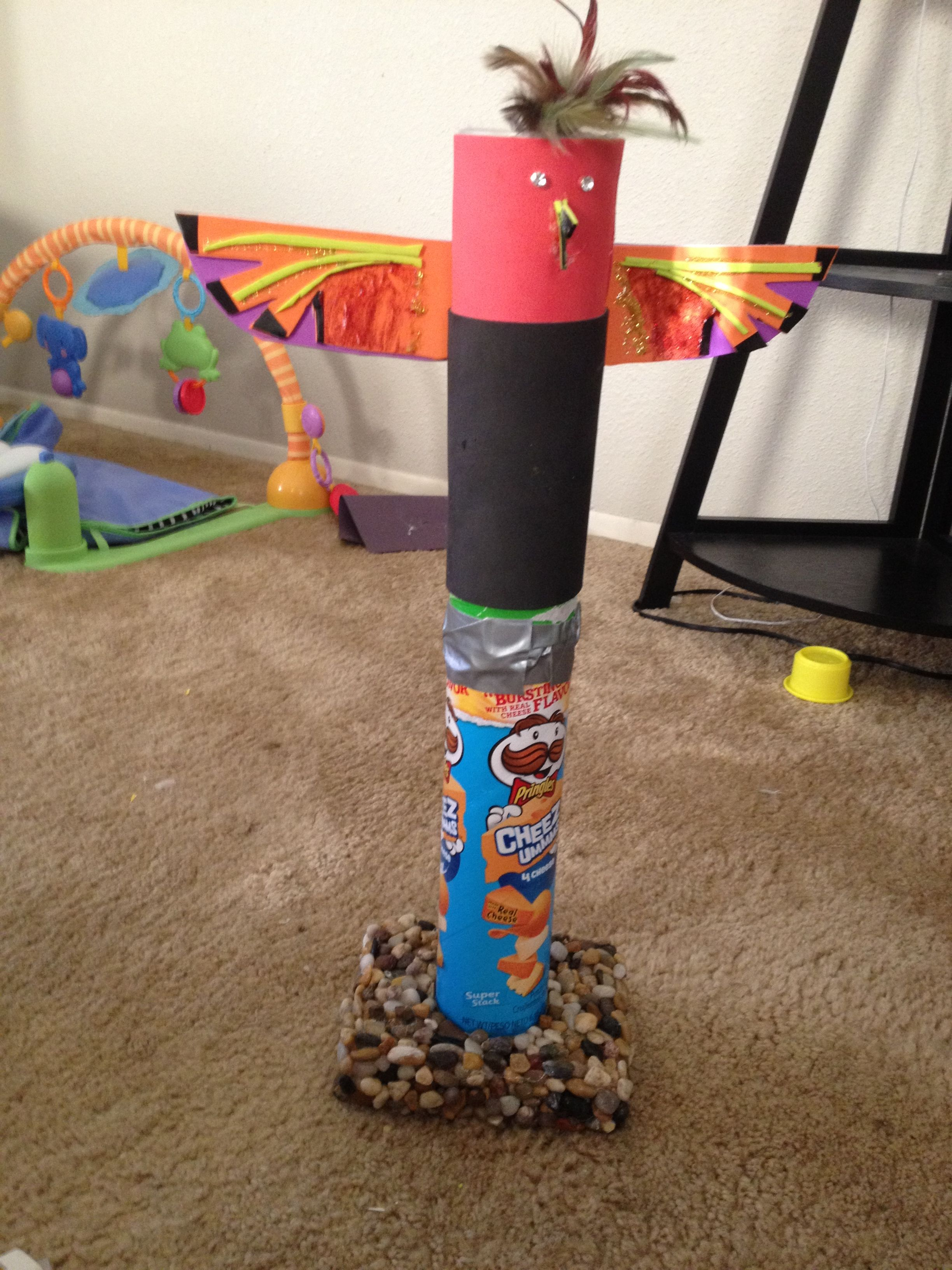 Totem Pole Project With Pringles Can Thanksgiving
