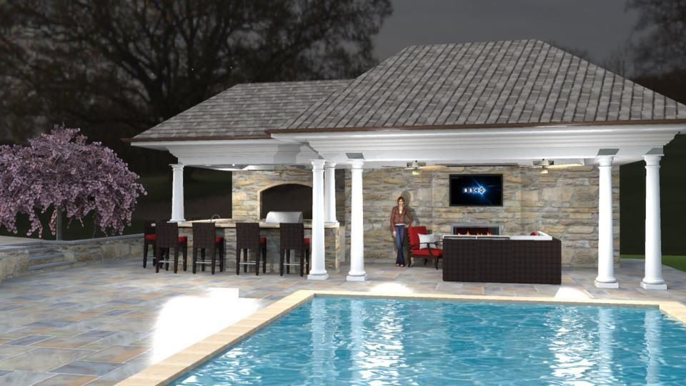 Pool Cabana / Outdoor Room | Pools | Pinterest on Cabana Designs Ideas id=34109