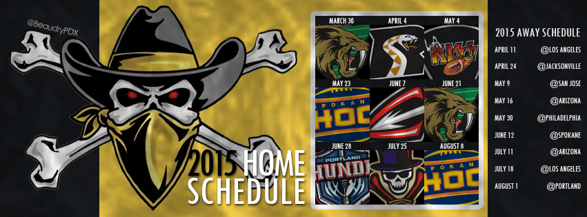 2015 Las Vegas Outlaws schedule cover image