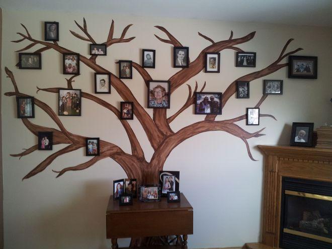 Diy family tree display cool room ideas pinterest