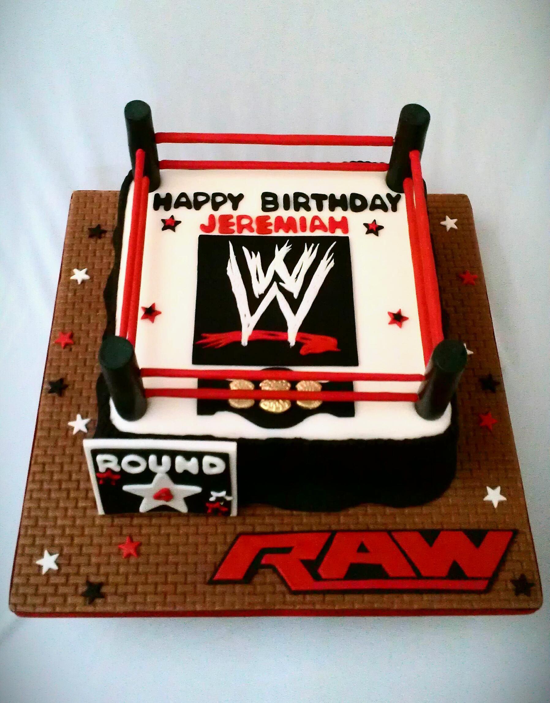 Raw Wrestling Cake