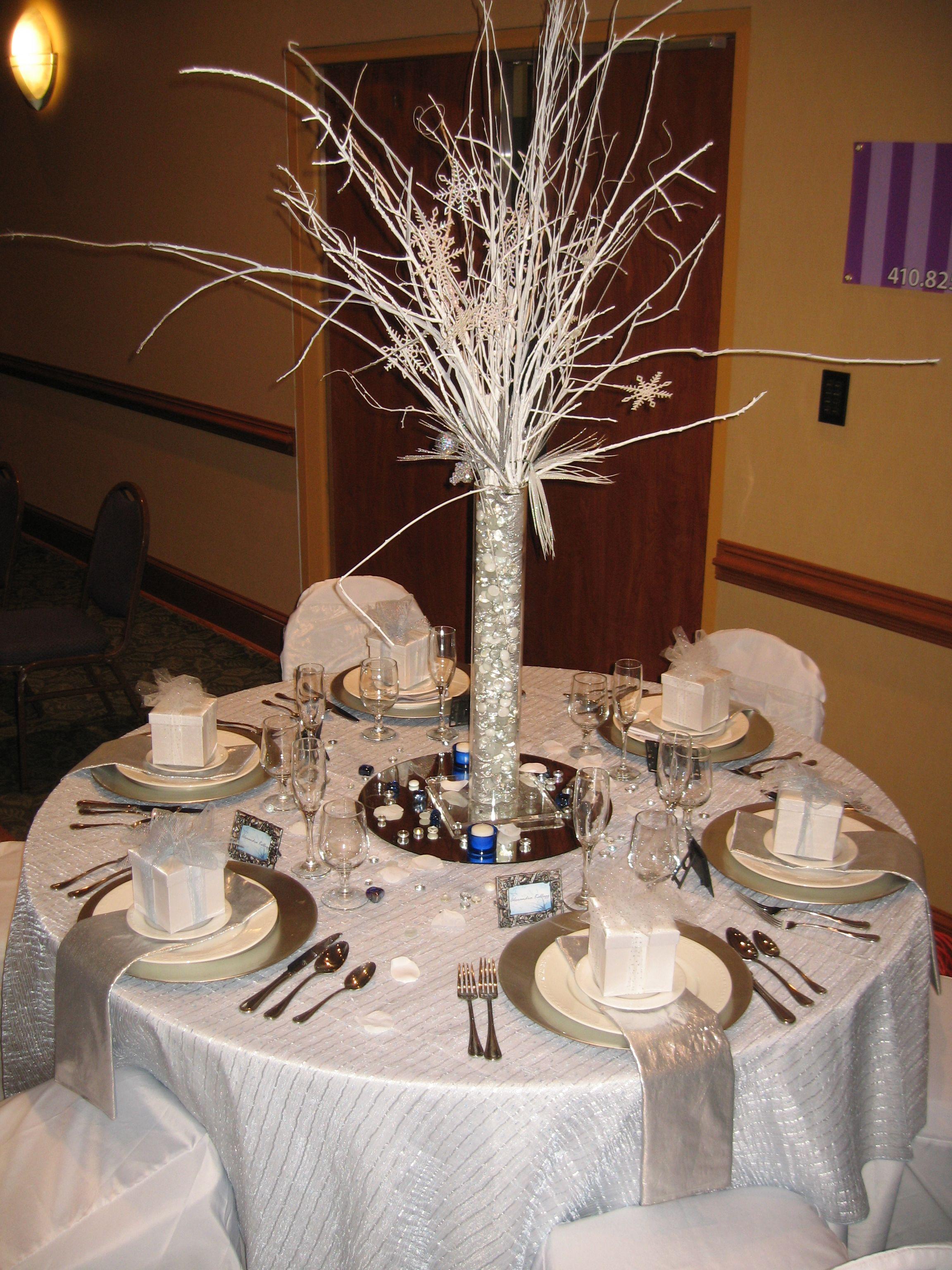Winter Wonderland Table Decor Centerpieces Amp Table Decor