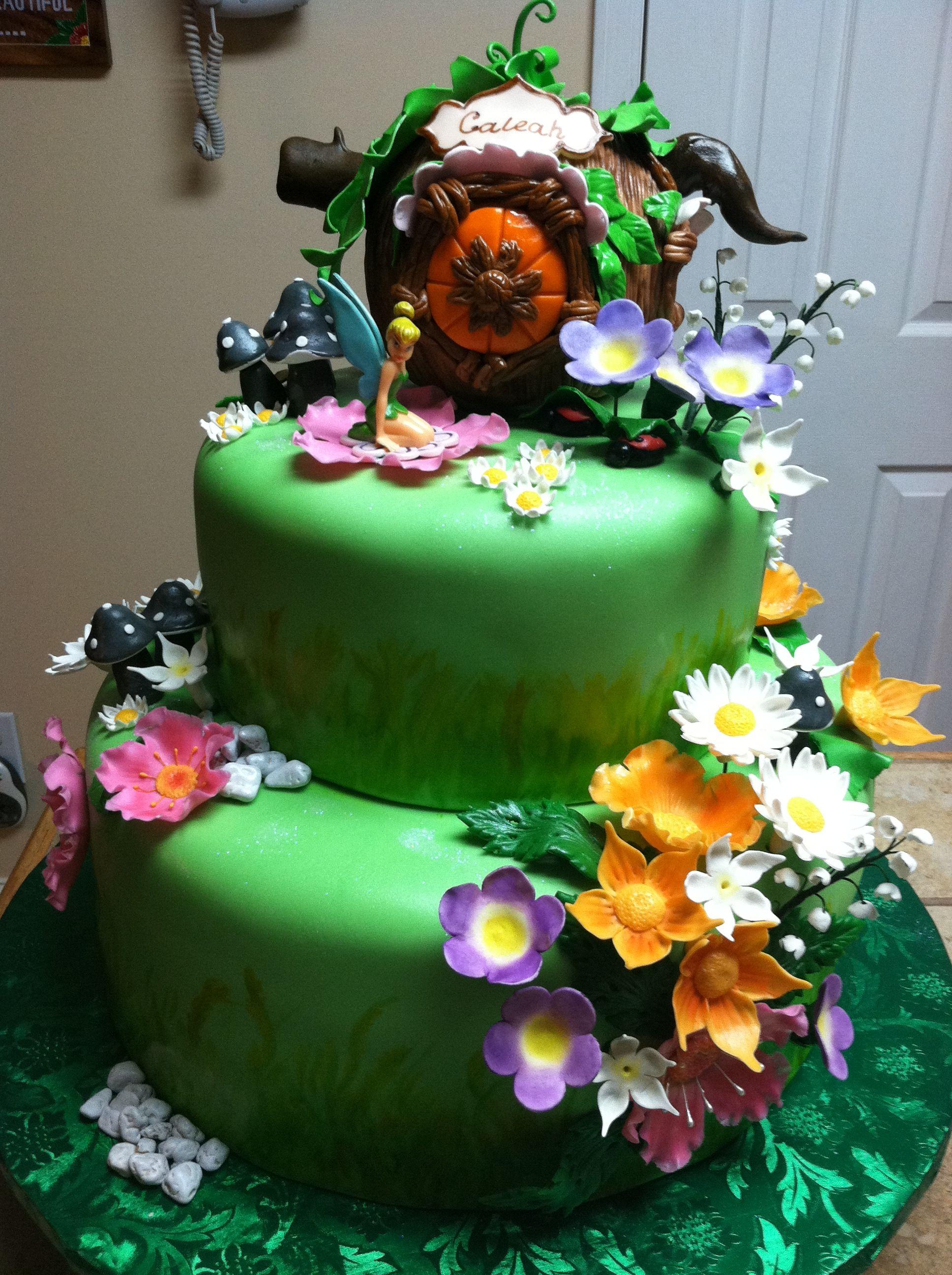 Tinkerbell Cake Ideas Pinterest