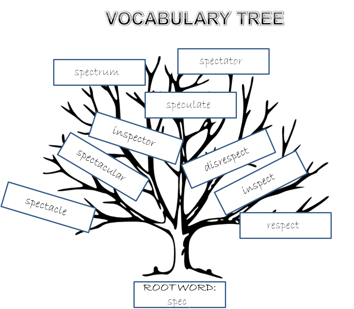 Illustrating Root Words Vocabulary Tree