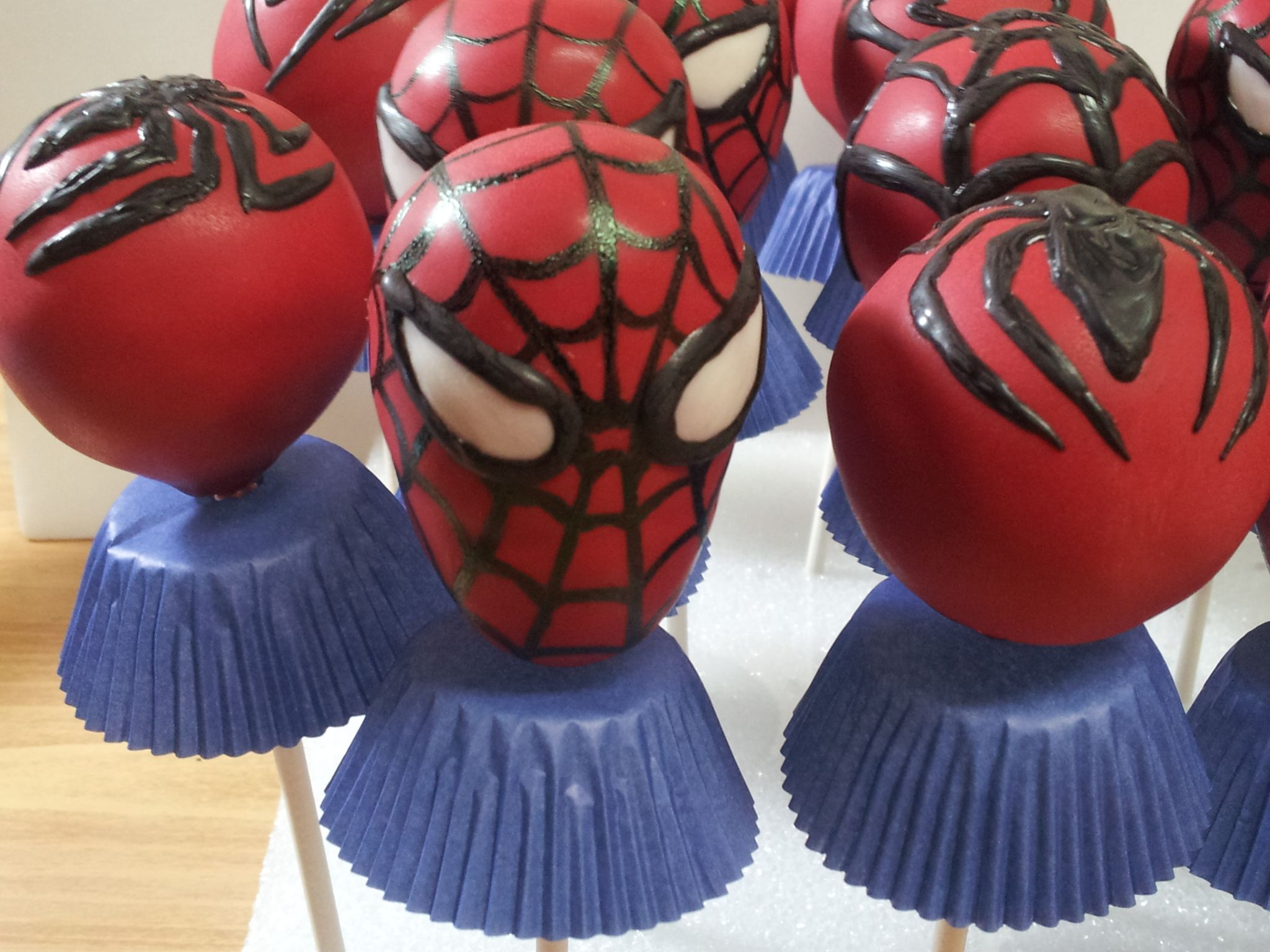 My First Spiderman Cake Pops