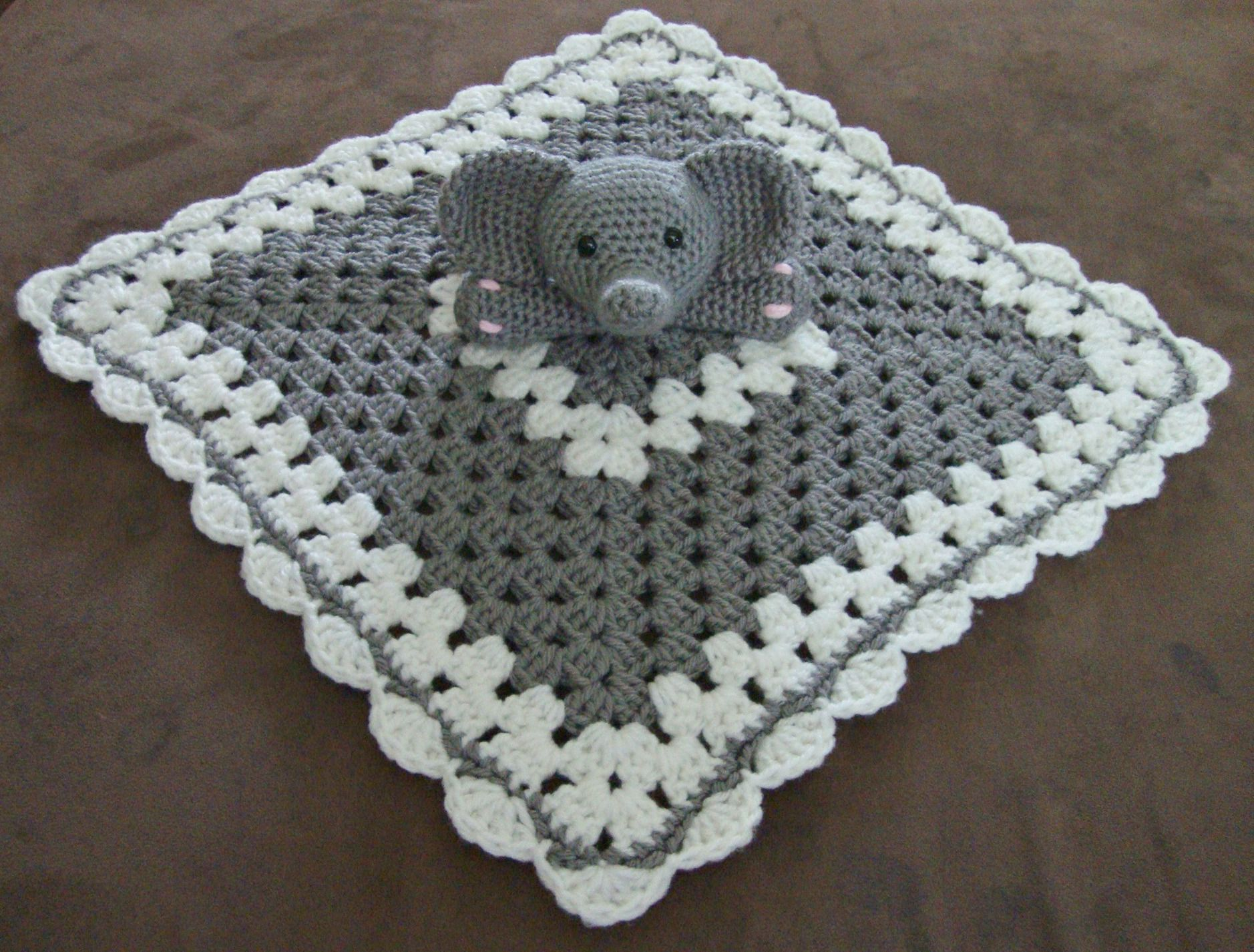 Knit Bunny Security Blanket Pattern