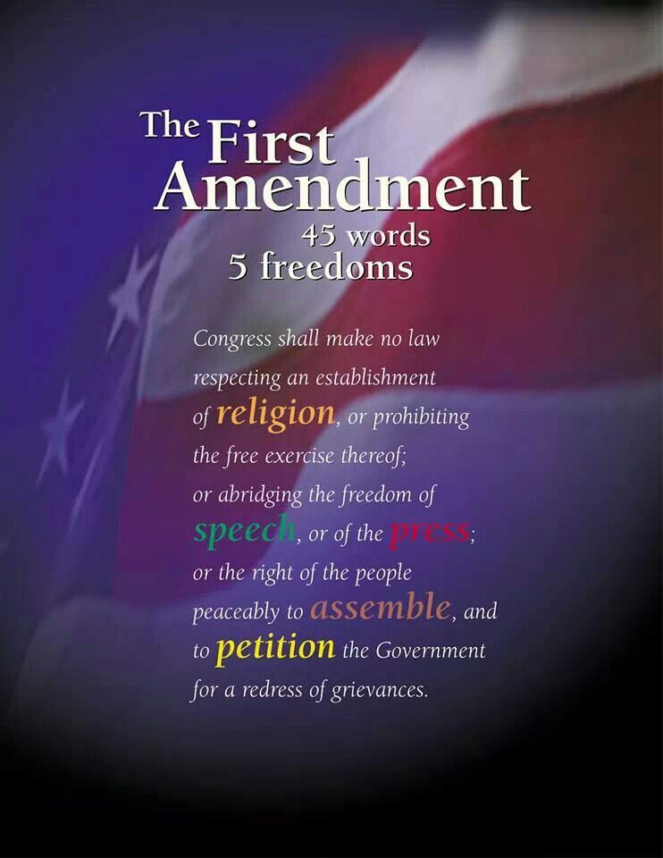 Image result for first amendment