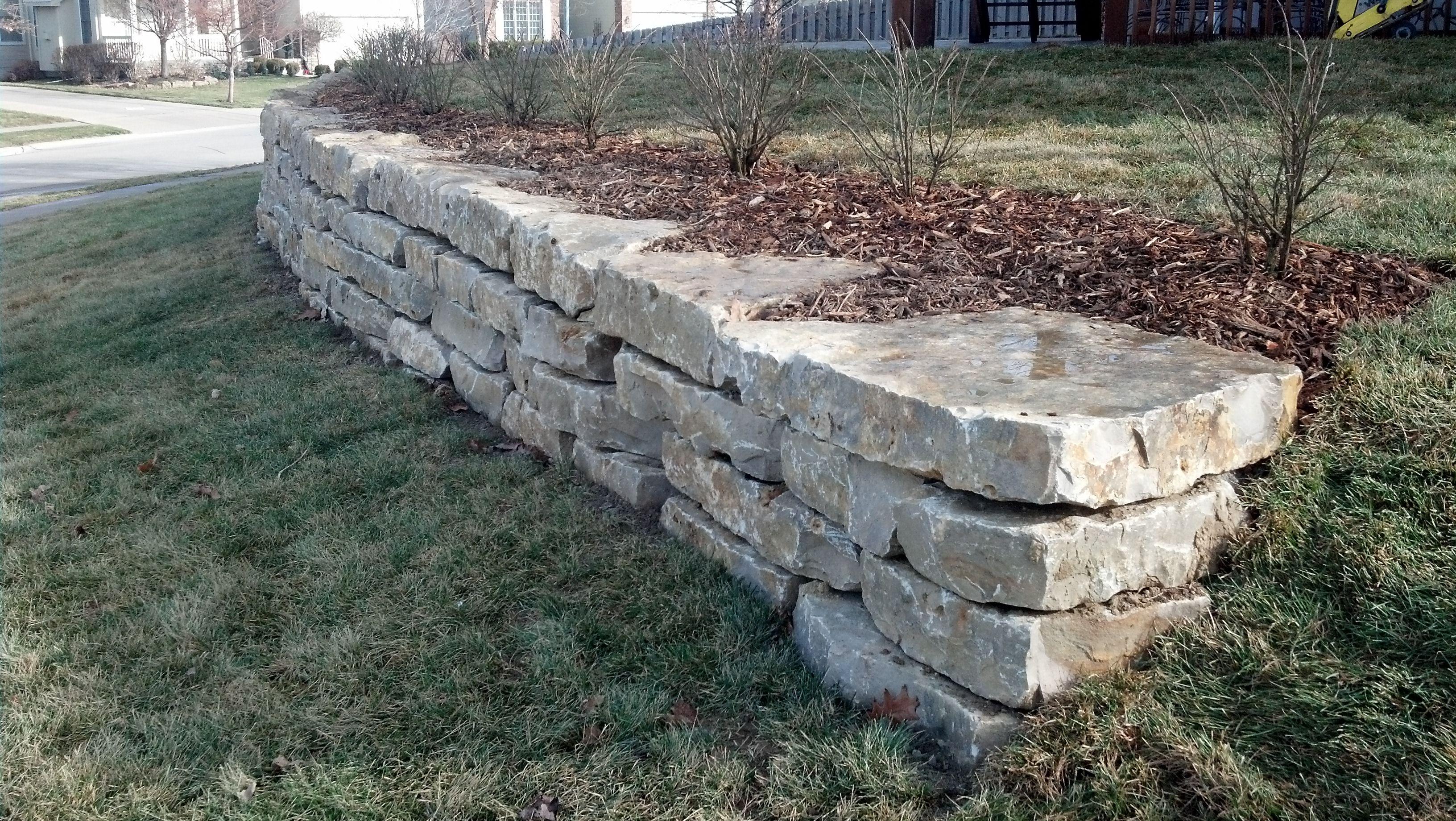 limestone retaining wall mechaley landscaping on retaining wall id=25592