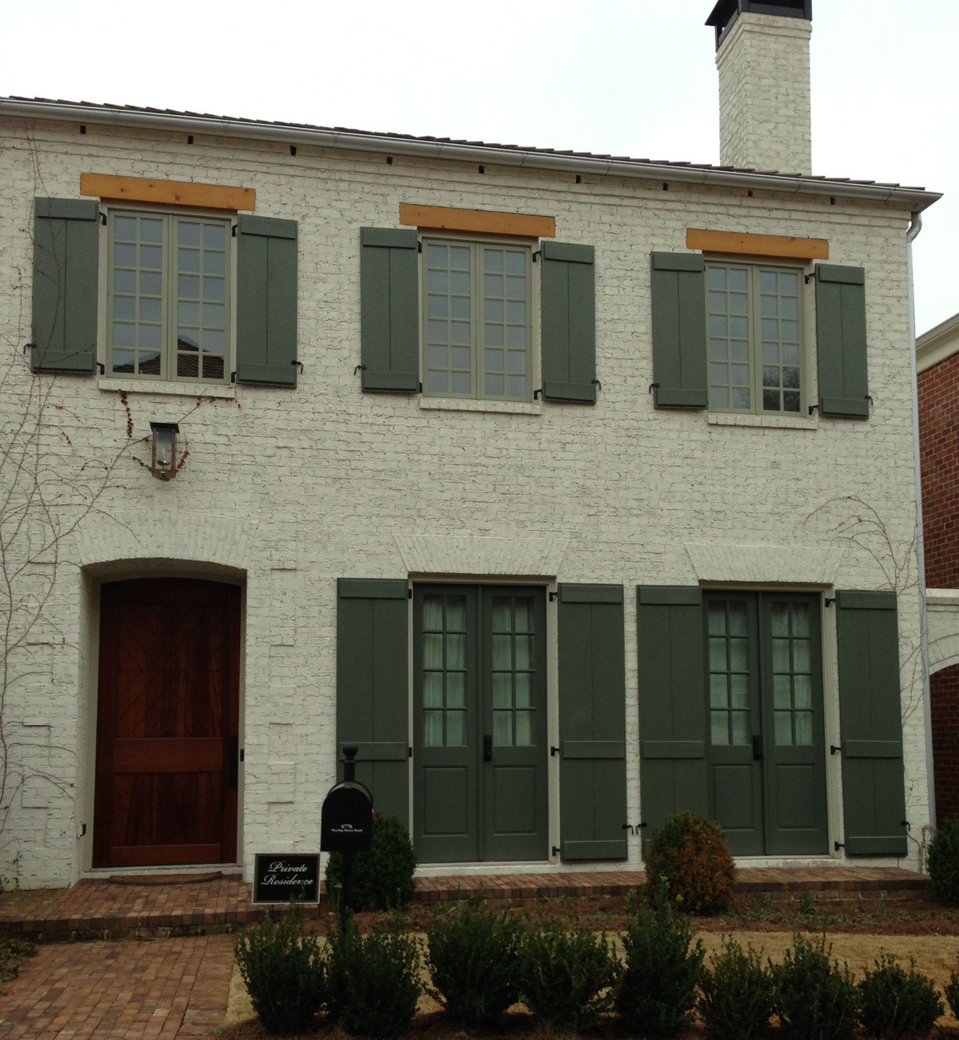 Exterior painted brick | New house ideas | Pinterest on Brick Painting Ideas  id=46699