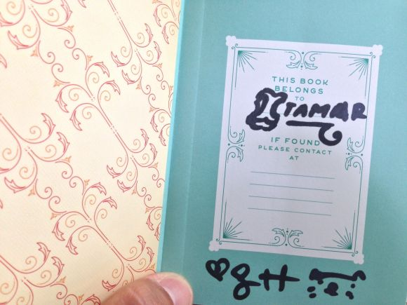 """My signed copy of """"Today is the Day"""" Pocket Planner, autographed by Jessica Hische"""