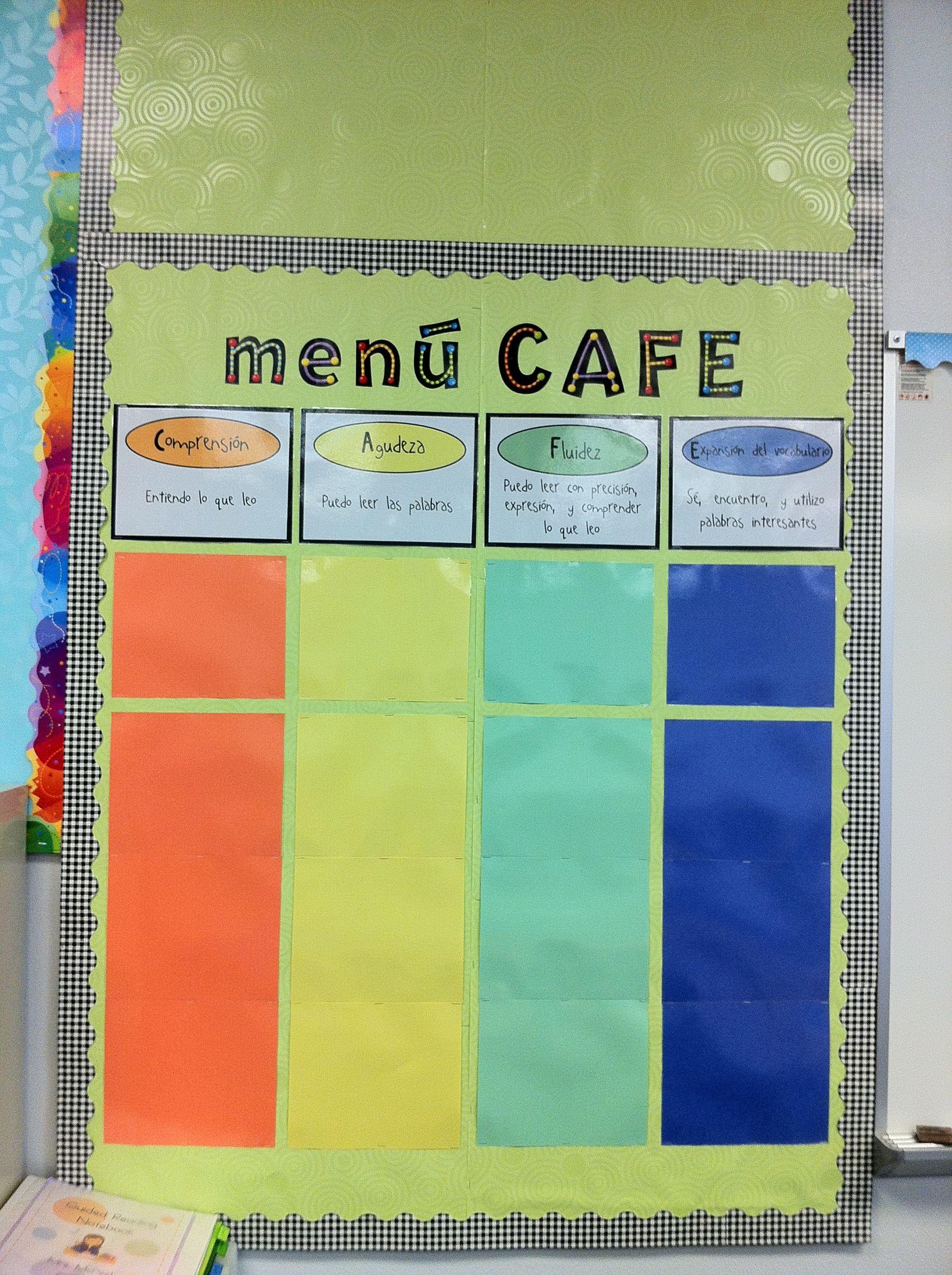 Spanish Cafe Menu Daily 5
