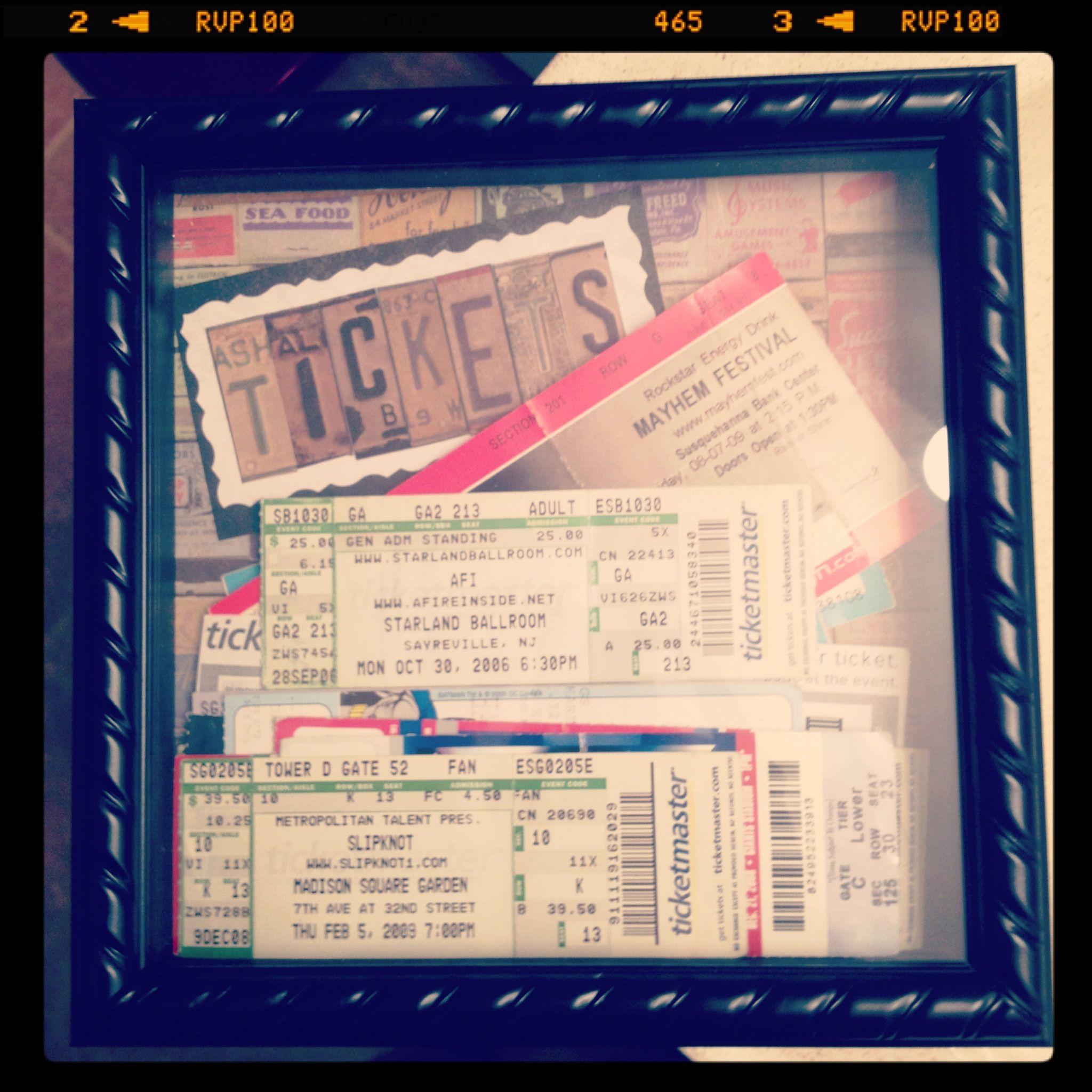 Concert Ticketholder Frame