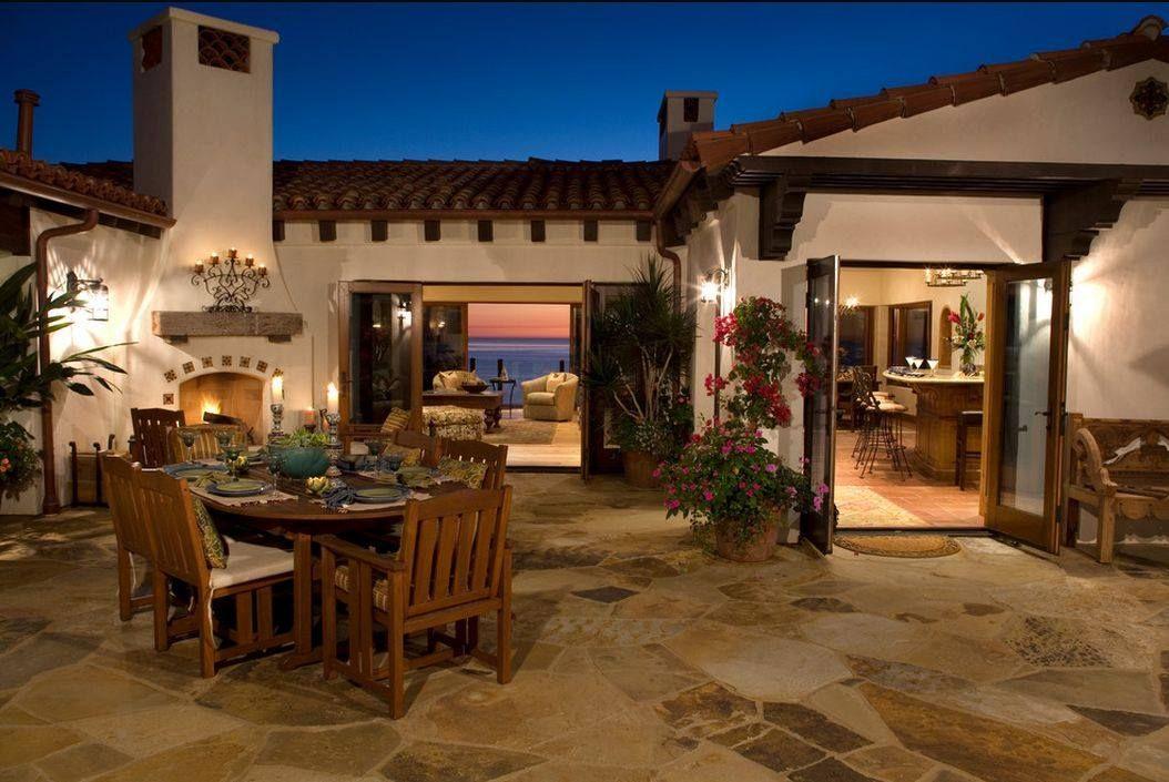 Mediterranean Patio | Mexican style | Pinterest on Mexican Backyard Decor id=43190