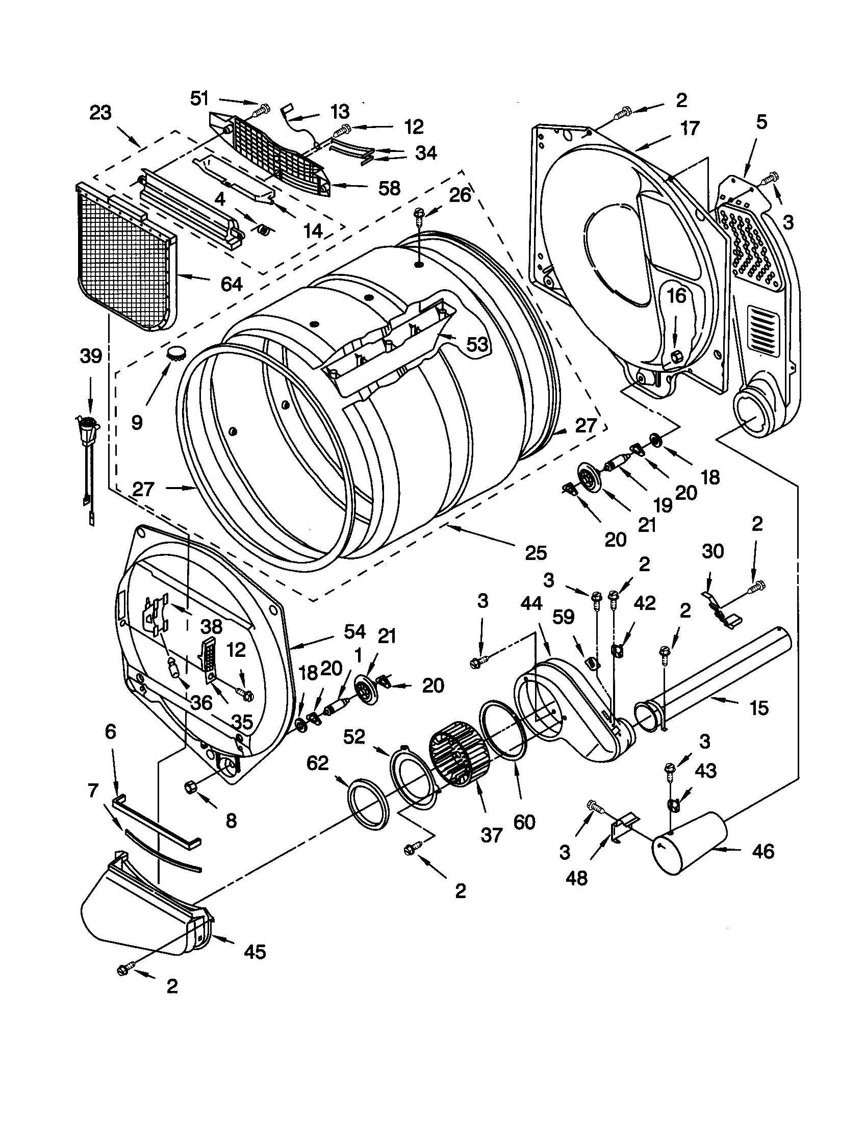 Kenmore Dryer Diagram