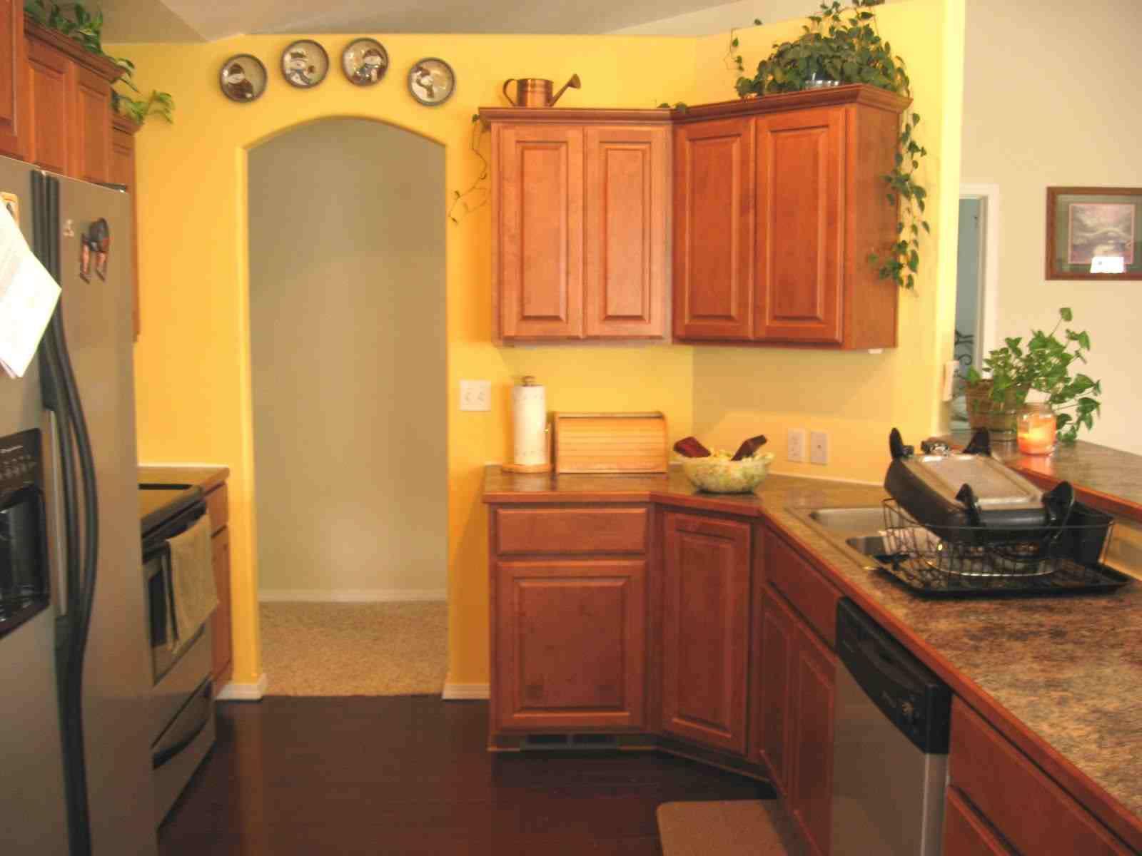 yellow kitchen kitchens pinterest on kitchen remodel yellow walls id=54689