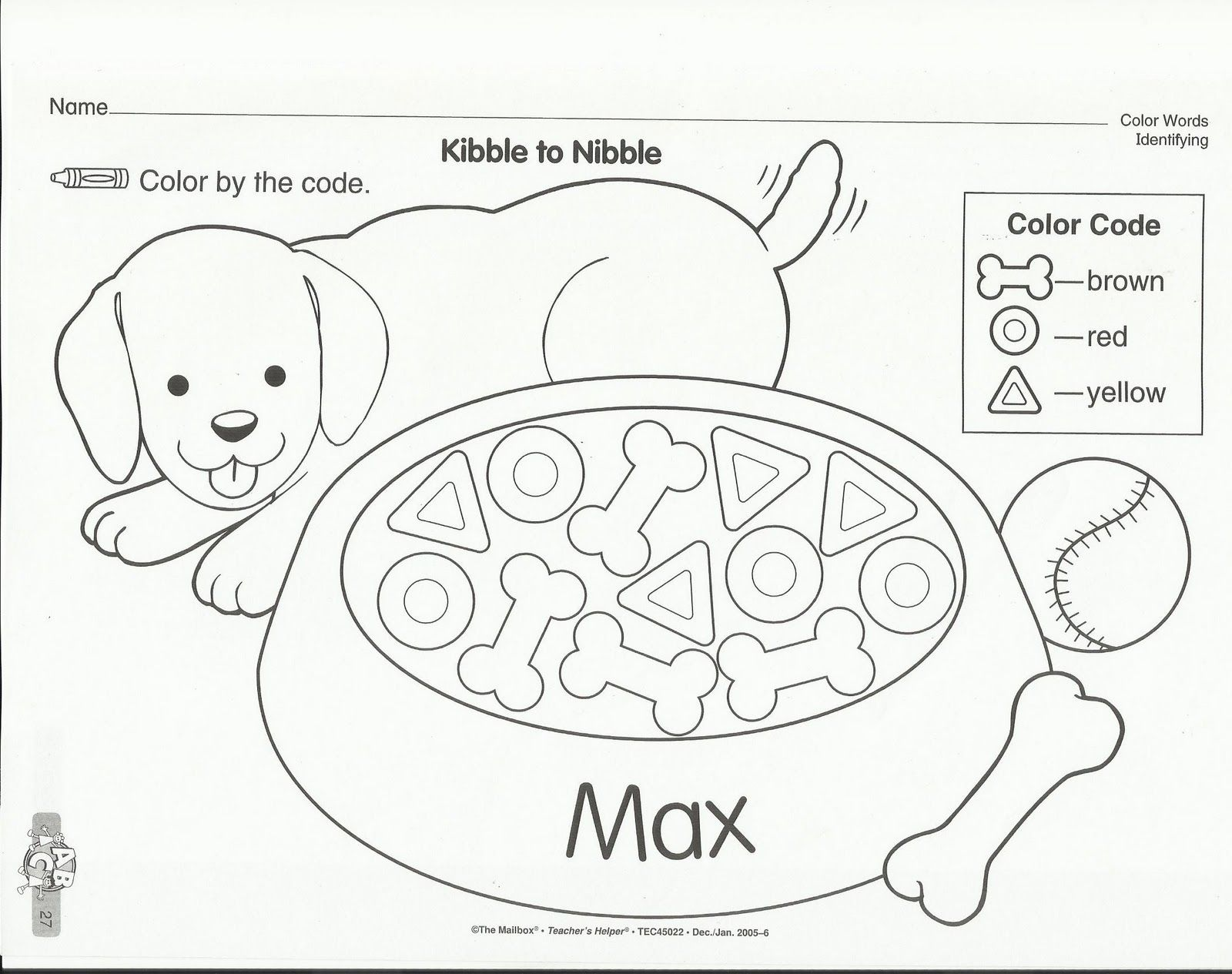 Preschool Worksheet On Pets