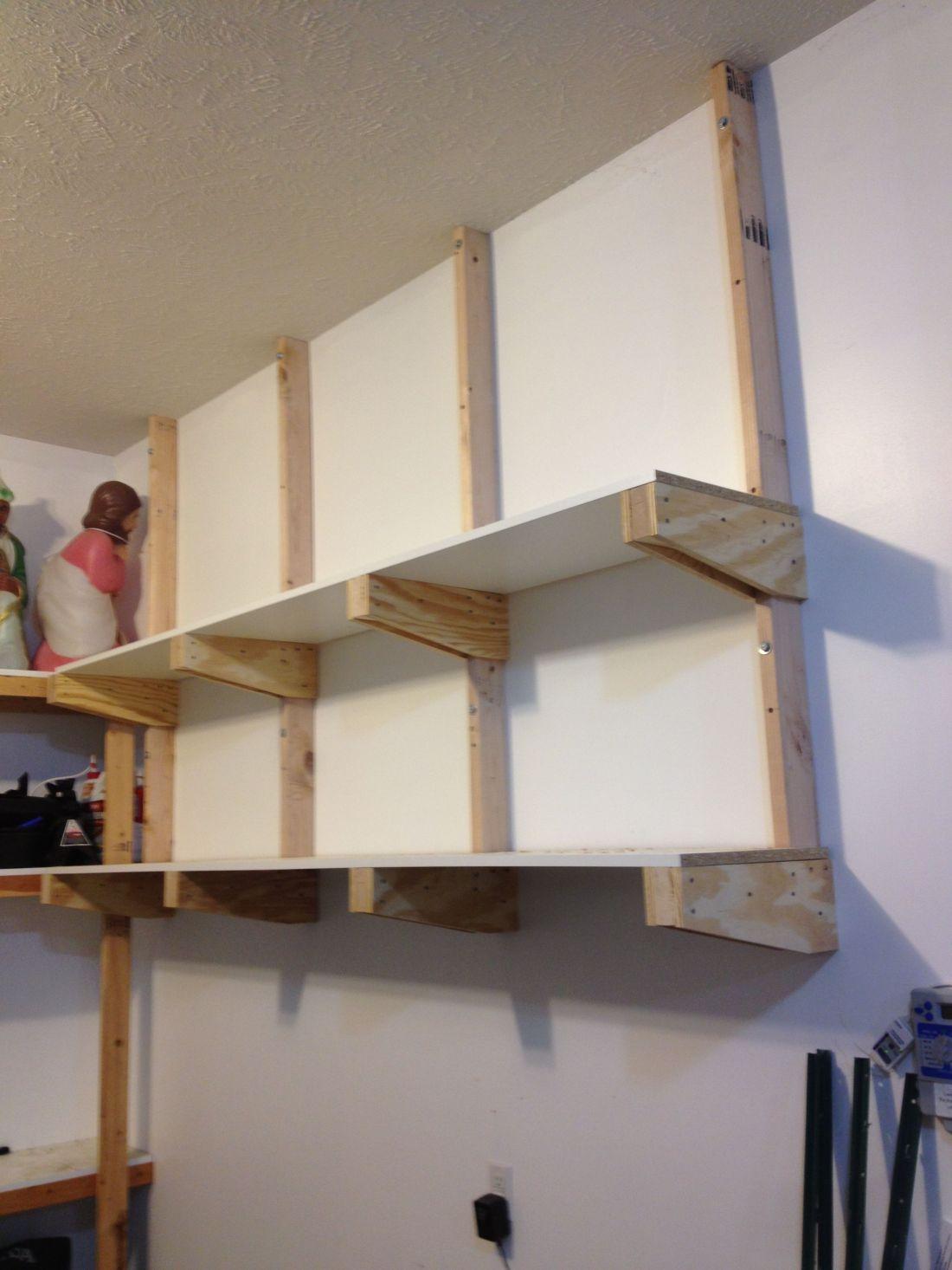 Diy garage storage shelves garage pinterest
