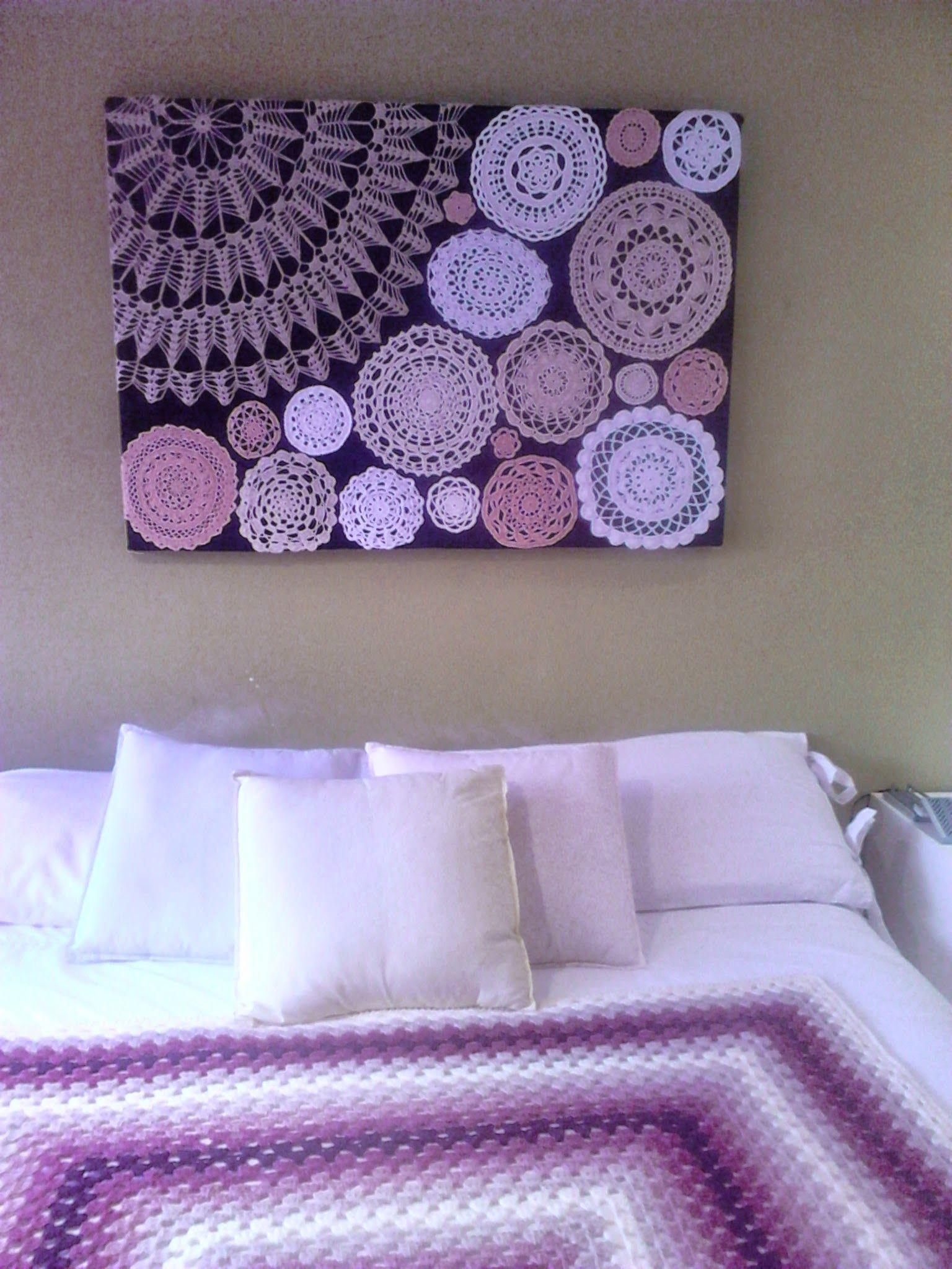 crochet wall art on pinterest doilies framed doilies on wall hangings id=82512