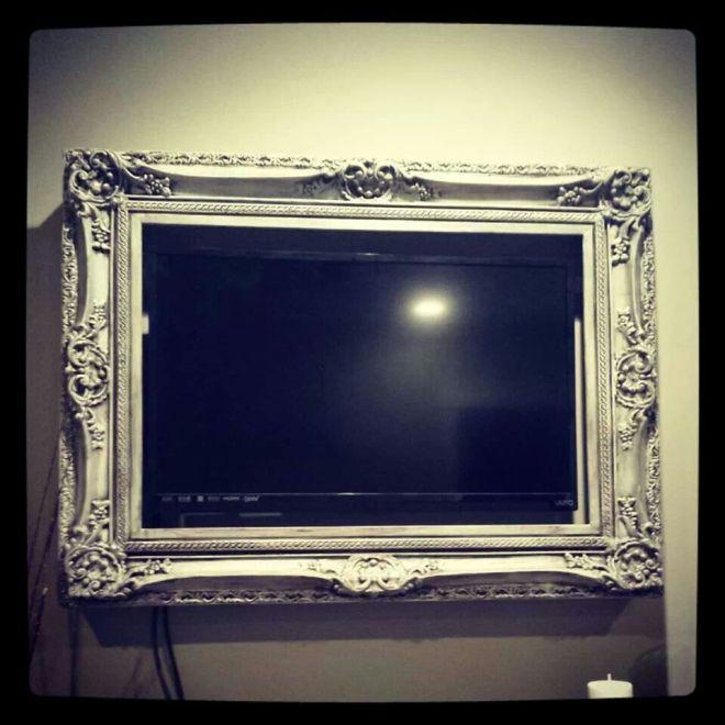 Frame your flat screen tv genious diy pinterest