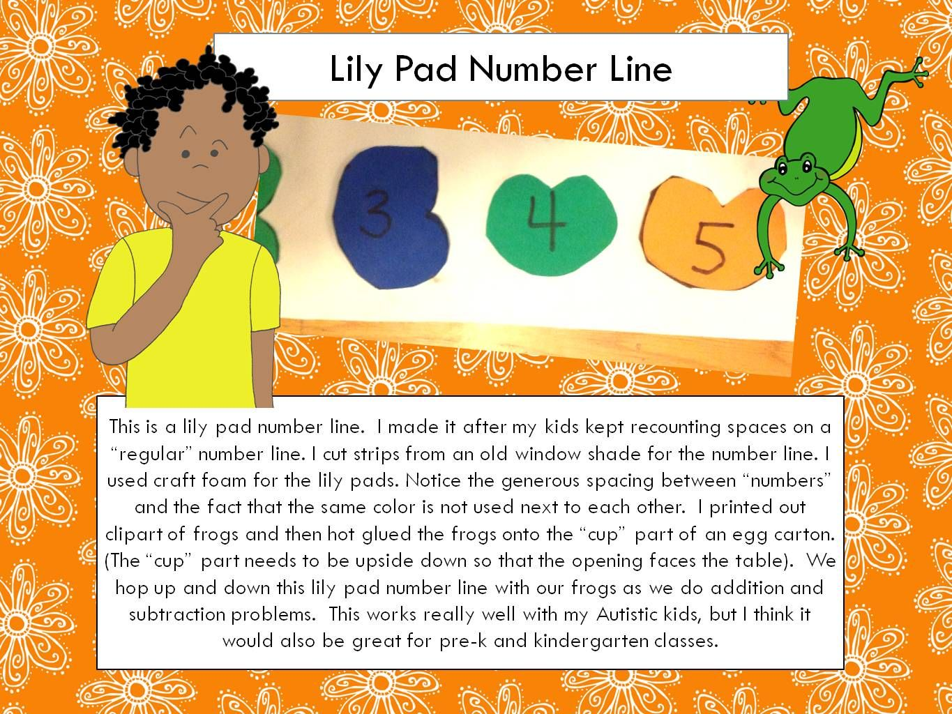 Lily Pad Number Line