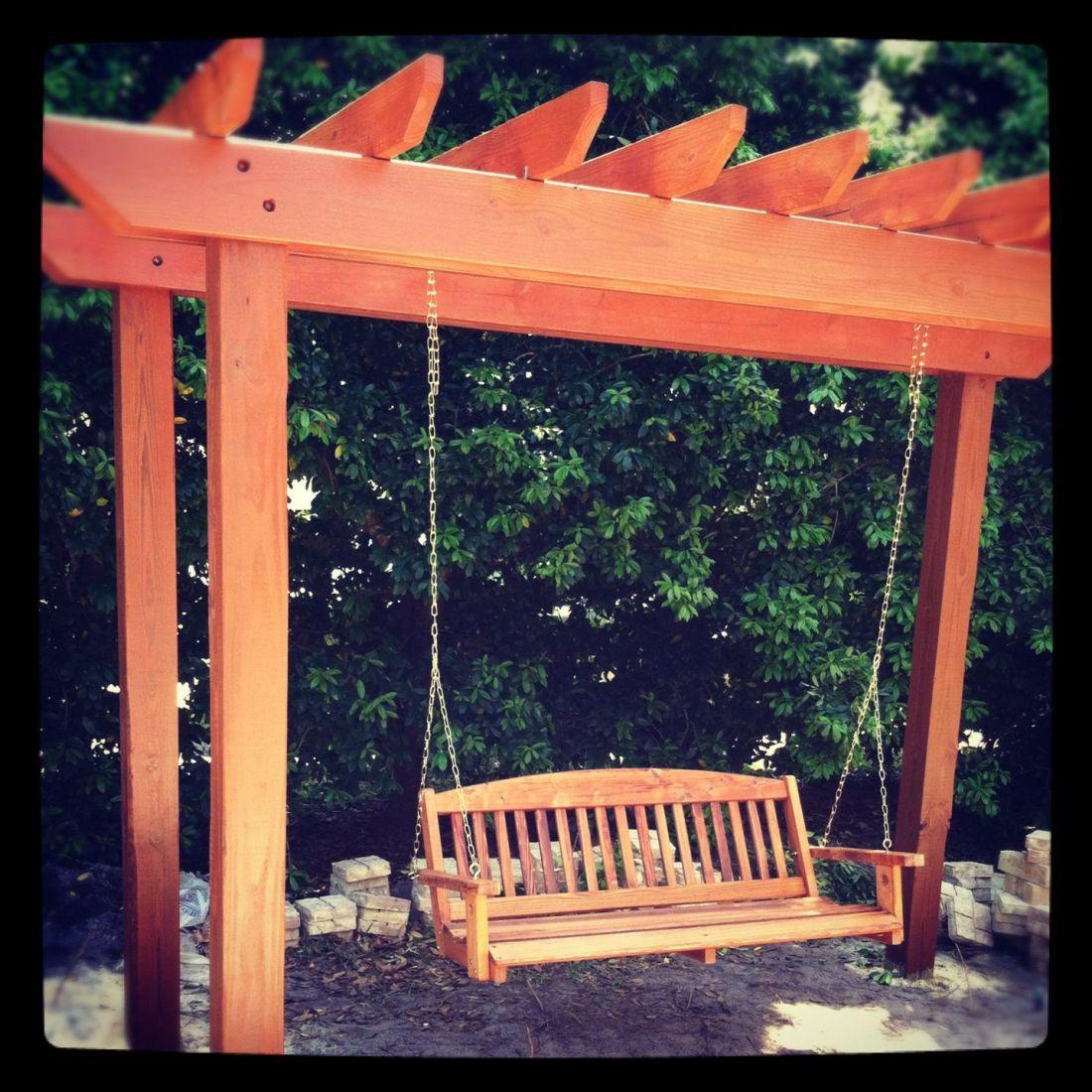 Freestyle pergola for hammock swing backyard pinterest