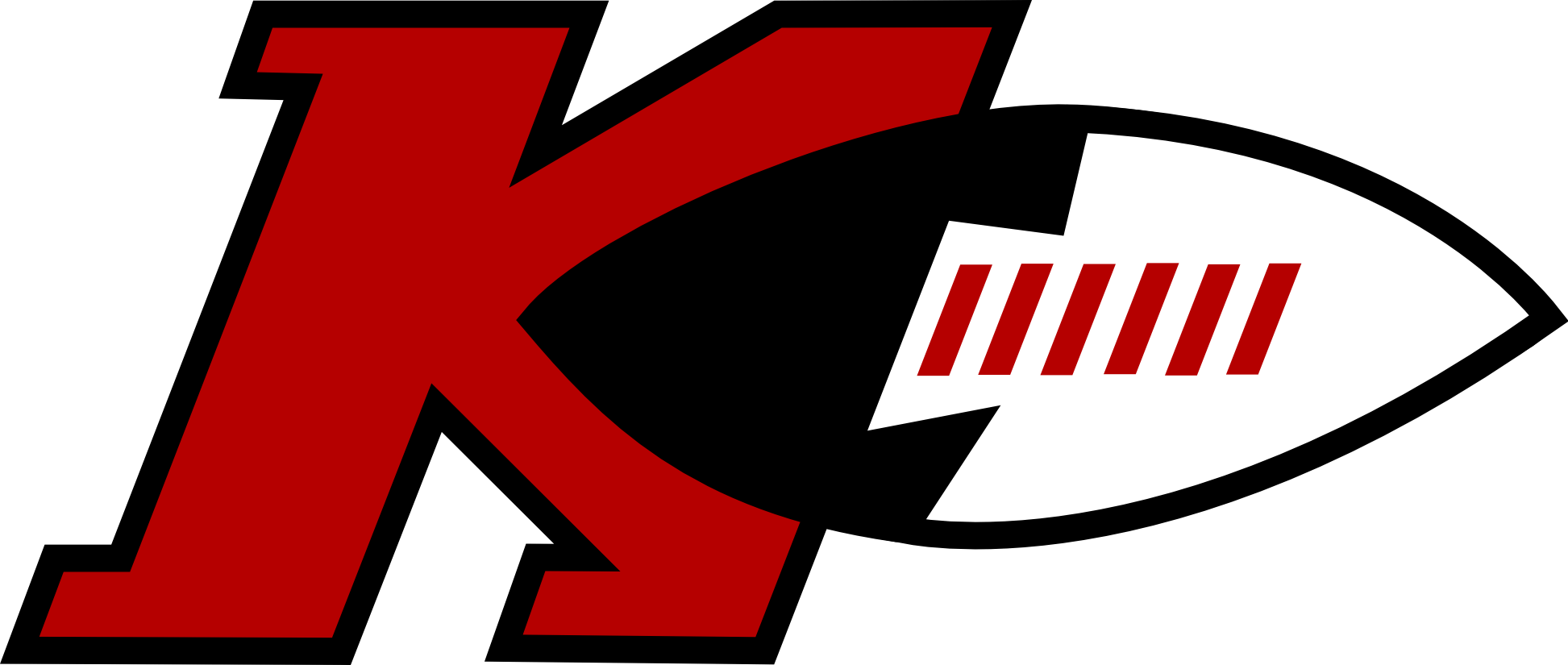 """The team nickname is """"redwood forest"""" and their mascot. Kansas City Chiefs 1970's """"New"""" Logo (Inkscape) - Concepts ..."""