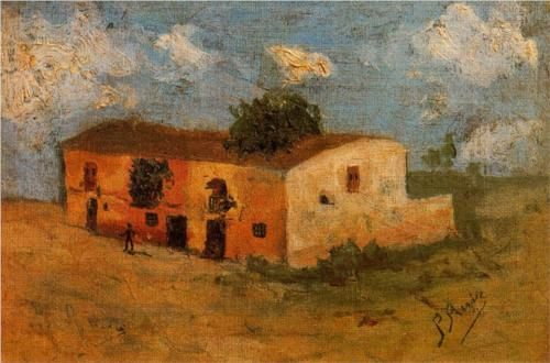 House+in+the+field+-+Pablo+Picasso