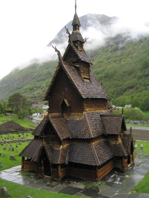 Borgund Stave Church, Norway (900 years old)
