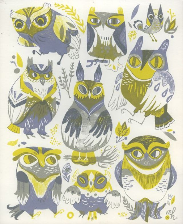 Pretty Things - Owls by Meg Hunt