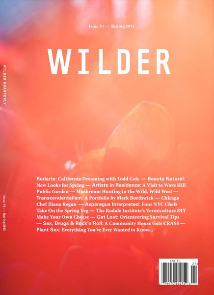 Wilder Quarterly magazine, Spring 2013