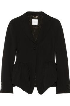 Moschino|Crepe peplum jacket|NET-A-PORTER.COM