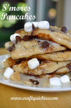 S'mores Pancakes...yum!