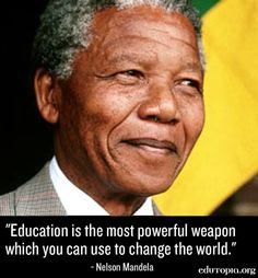 Nelson Mandela Education quote via www.Edutopia.org