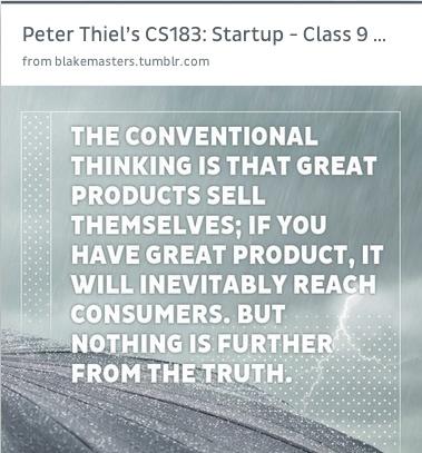 Peter Thiel's CS183: #startup class
